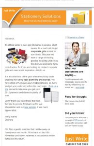 Just Write Email Newsletter