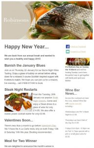 email marketing for restaurants Milton Keynes Buckinghamshire