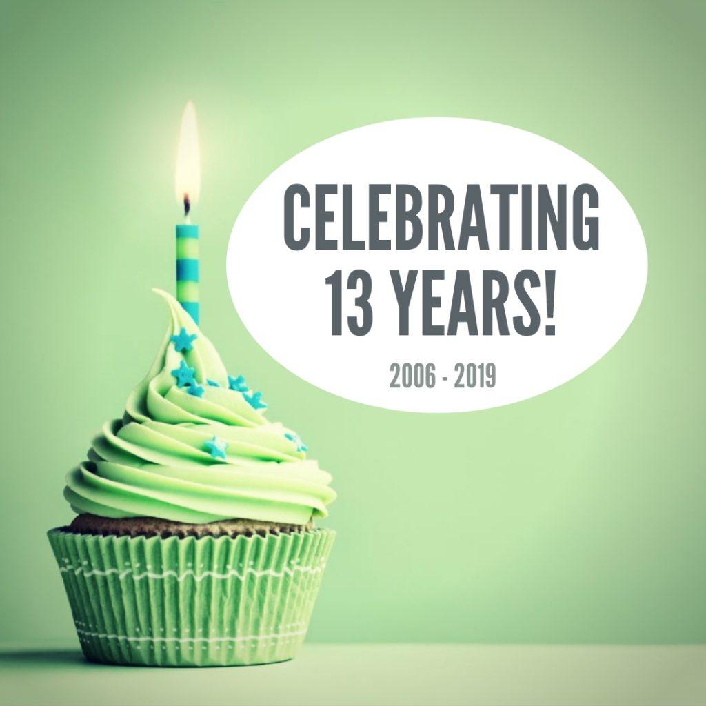 Evolve Marketing 13 year anniversary